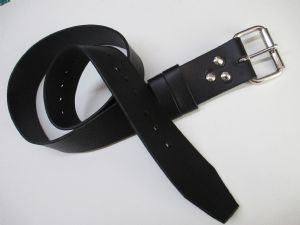 Black Leather 1.5 inch wide Belt